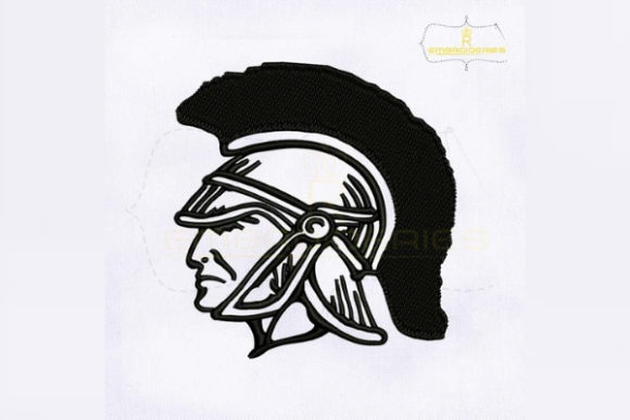 Trojan Head Military Embroidery Design By RoyalEmbroideries