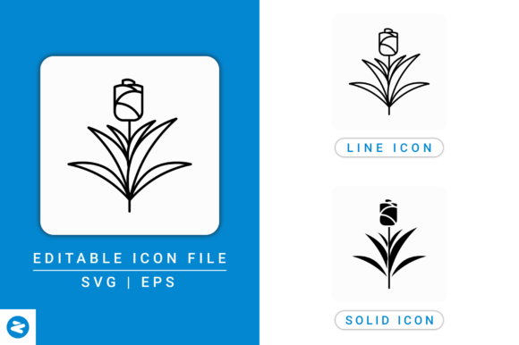 Download Free Tulip Flower Icons Set Graphic By Zenorman03 Creative Fabrica for Cricut Explore, Silhouette and other cutting machines.
