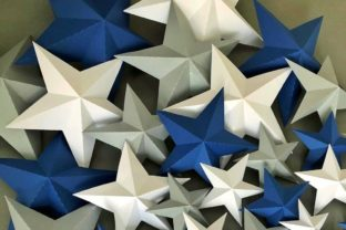 Wall Stars Template 3 Sizes Graphic 3D SVG By sdelano-klinino