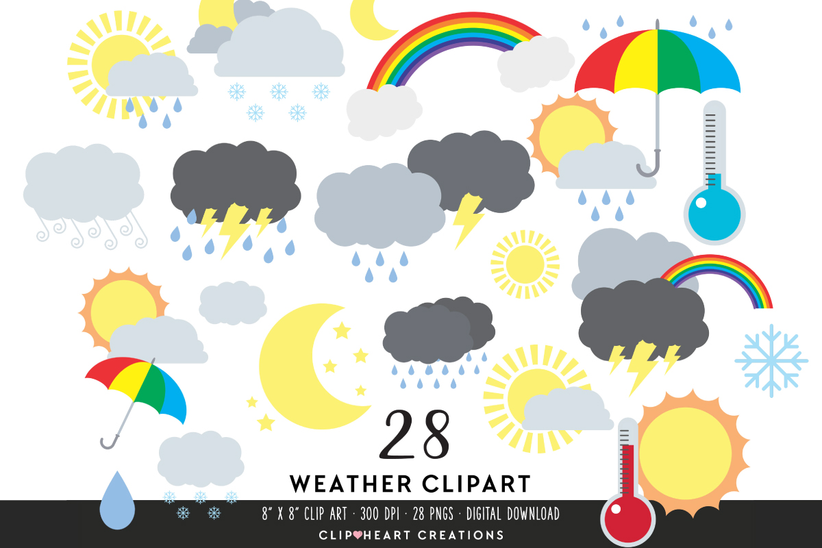 Download Free Weather Clipart Graphic By Clipheartcreations Creative Fabrica for Cricut Explore, Silhouette and other cutting machines.