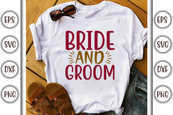 Download Free Wedding Design Bride And Groom Graphic By Graphicsbooth for Cricut Explore, Silhouette and other cutting machines.