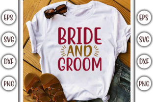 Print on Demand: Wedding Design, Bride and Groom Graphic Print Templates By GraphicsBooth