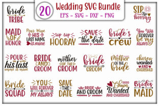 Download Free Wedding Design Bundle Graphic By Graphicsbooth Creative Fabrica for Cricut Explore, Silhouette and other cutting machines.