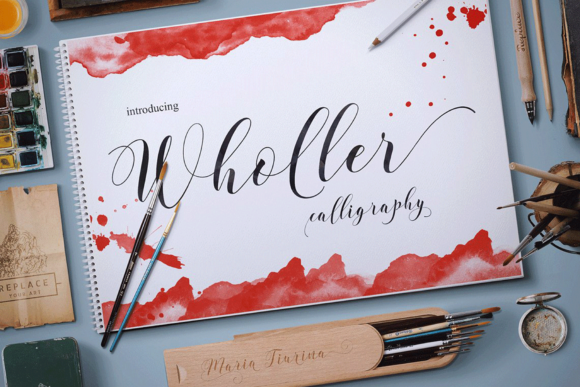 Print on Demand: Wholler Script & Handwritten Font By Artisans