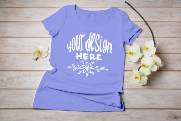 Print on Demand: Women's T-shirt Mockup Graphic Product Mockups By TasiPas - Image 12