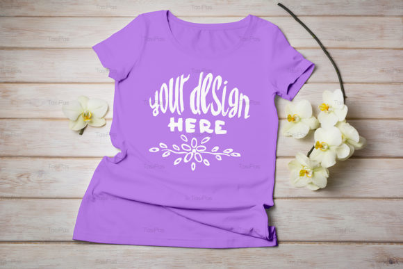 Print on Demand: Women's T-shirt Mockup Graphic Product Mockups By TasiPas - Image 16