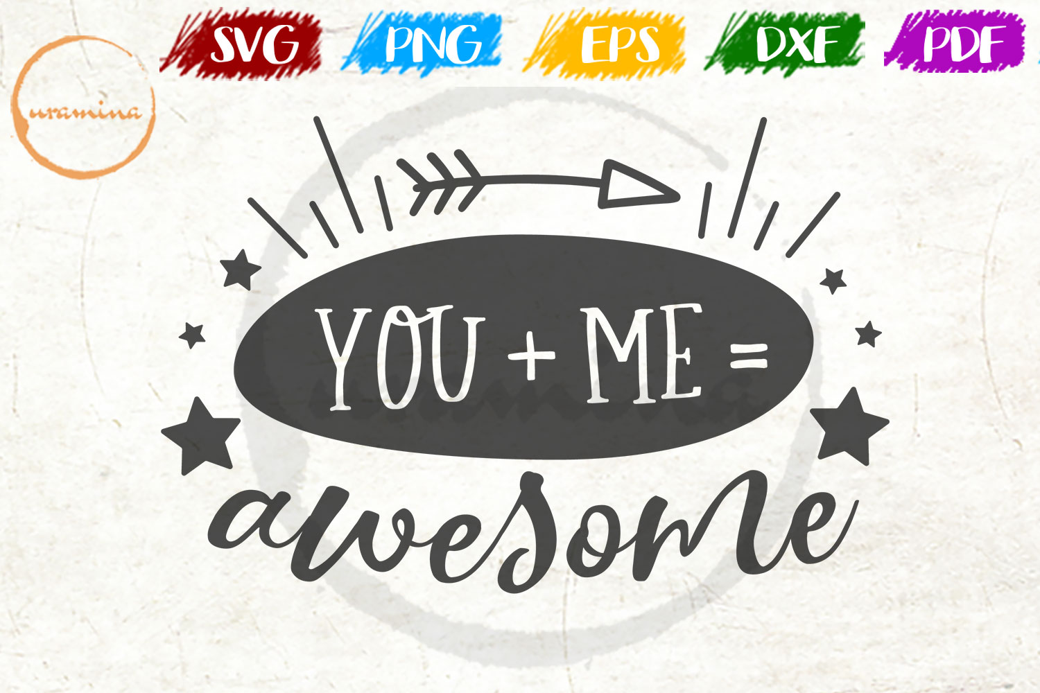 Download Free You Me Awesome Graphic By Uramina Creative Fabrica for Cricut Explore, Silhouette and other cutting machines.