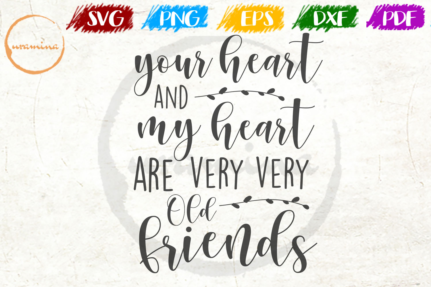 Download Free Your Heart And My Heart Are Very Very Graphic By Uramina Creative Fabrica for Cricut Explore, Silhouette and other cutting machines.