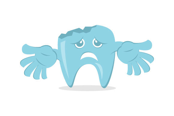 Download Free Dental Decay Cartoon Vector Graphic By Hartgraphic Creative for Cricut Explore, Silhouette and other cutting machines.