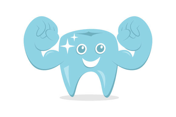 Download Free Dental Strong Cartoon Vector Graphic By Hartgraphic Creative for Cricut Explore, Silhouette and other cutting machines.