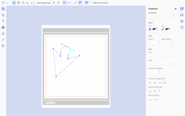 the path tool in canvas workspace