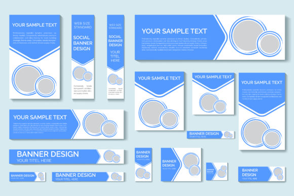 Web Banners Of Standard Sizes Graphic By Ju Design Creative