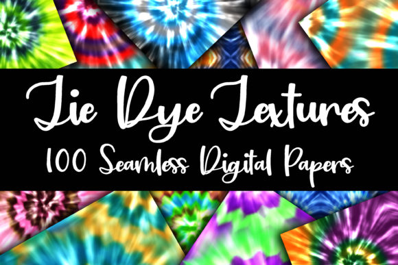 Print on Demand: 100 Tie Dye Digital Paper Textures Gráfico Texturas Por oldmarketdesigns