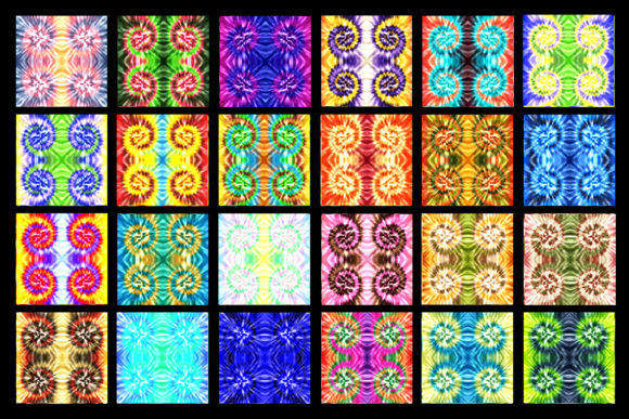 100 Tie Dye Digital Paper Textures Graphic Preview