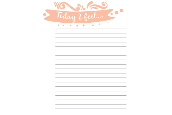 Download Free Self Reflection Planner Page Svg Cut File By Creative Fabrica for Cricut Explore, Silhouette and other cutting machines.