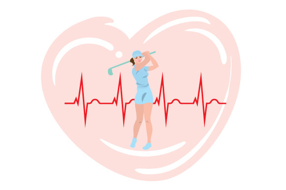 Download Free Ladies Golfer Heartbeat Svg Cut File By Creative Fabrica Crafts for Cricut Explore, Silhouette and other cutting machines.