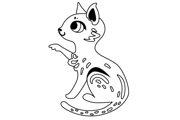 Download Free Cat With Paw In The Air Svg Cut File By Creative Fabrica Crafts for Cricut Explore, Silhouette and other cutting machines.
