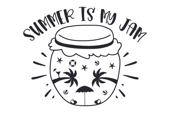 Download Free Summer Is My Jam Svg Cut File By Creative Fabrica Crafts for Cricut Explore, Silhouette and other cutting machines.