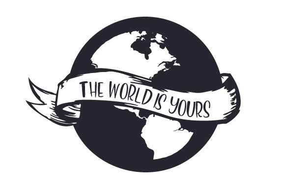 Download Free The World Is Yours Svg Cut File By Creative Fabrica Crafts for Cricut Explore, Silhouette and other cutting machines.
