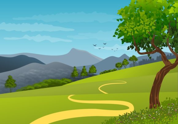3 Illustration of Natural Landscape. Graphic Backgrounds By americodealmeida