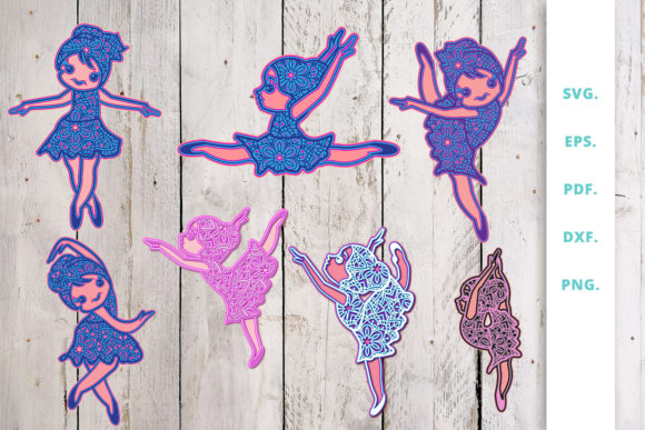 Download Free 3d Ballerina Out Of Mandala Bundle Graphic By Sintegra for Cricut Explore, Silhouette and other cutting machines.