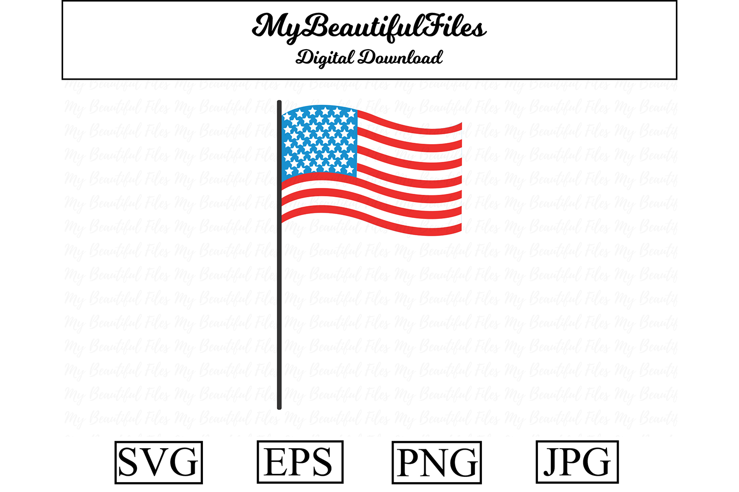 Download Free 4th Of July Flag Graphic By Mybeautifulfiles Creative Fabrica for Cricut Explore, Silhouette and other cutting machines.