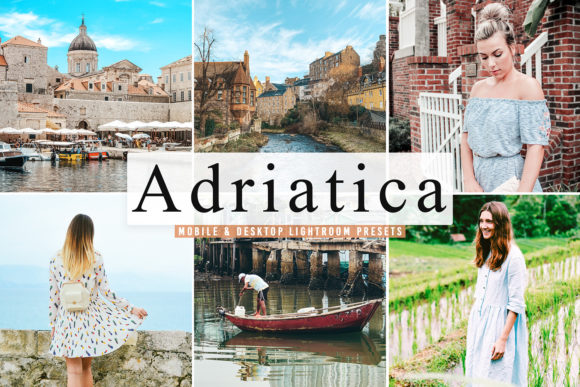 Print on Demand: Adriatica Pro Lightroom Presets Graphic Actions & Presets By Creative Tacos