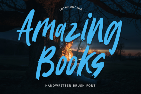 Print on Demand: Amazing Books Display Font By lyanatha
