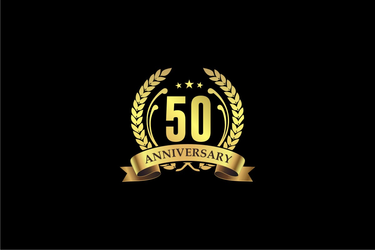 Download Free Anniversary 50 Years Graphic By Bintangcreative Creative Fabrica for Cricut Explore, Silhouette and other cutting machines.