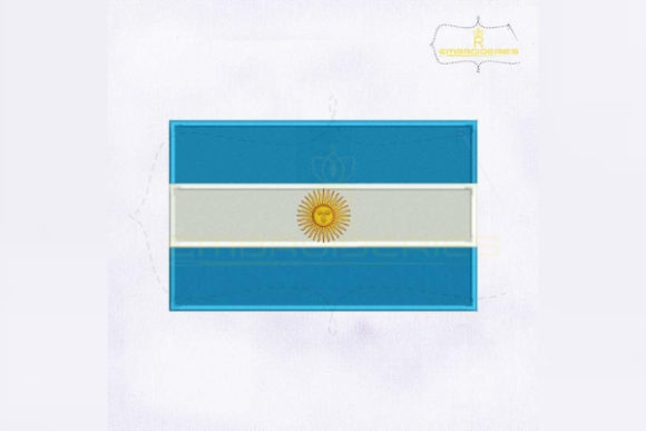 Argentina Flag South America Embroidery Design By RoyalEmbroideries