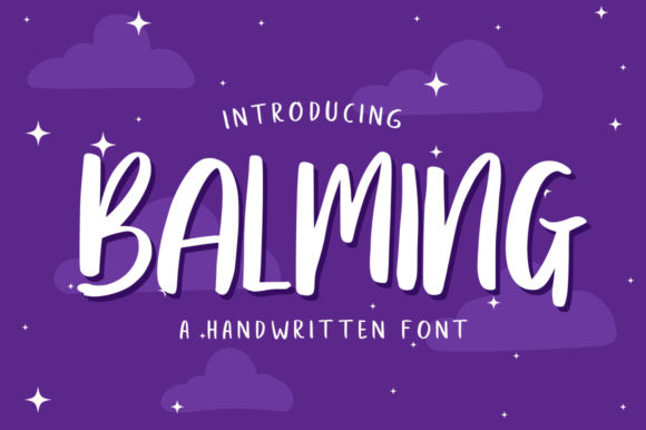 Print on Demand: Balming Script & Handwritten Font By vultype
