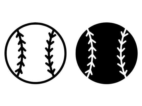 Download Free Baseball Ball Line And Glyph Icon Graphic By Anrasoft Creative for Cricut Explore, Silhouette and other cutting machines.