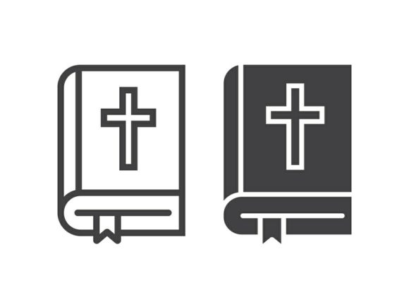Download Free Bible Line And Glyph Graphic By Anrasoft Creative Fabrica for Cricut Explore, Silhouette and other cutting machines.
