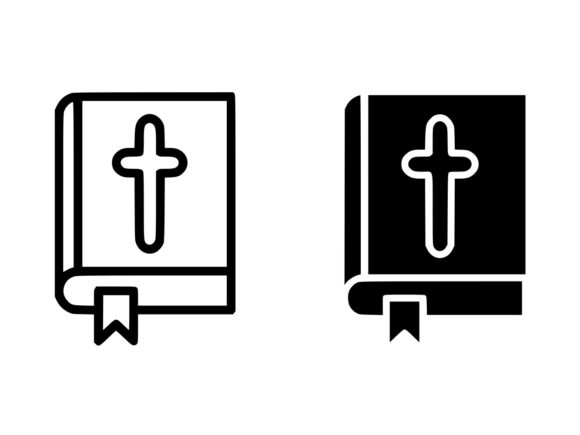 Download Free Bible Line And Glyph Icon Graphic By Anrasoft Creative Fabrica for Cricut Explore, Silhouette and other cutting machines.