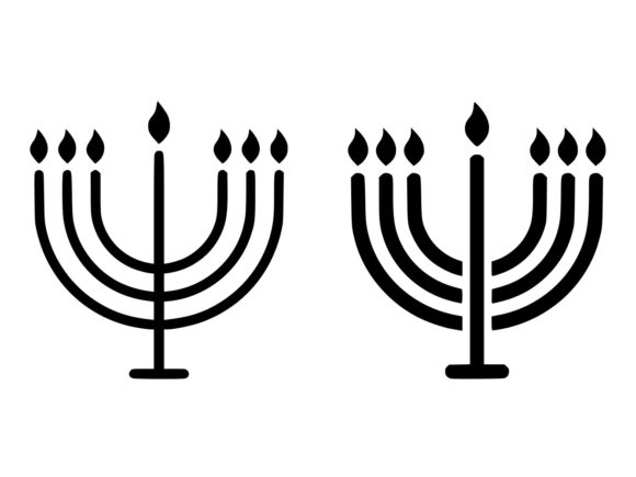 Download Free Big Menorah Line And Glyph Icon Graphic By Anrasoft Creative for Cricut Explore, Silhouette and other cutting machines.