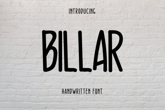 Print on Demand: Billar Script & Handwritten Font By desainabillion