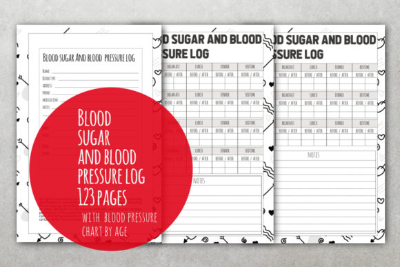 Print on Demand: Blood Sugar Log Daily Sugar Tracker Graphic KDP Interiors By stanosh