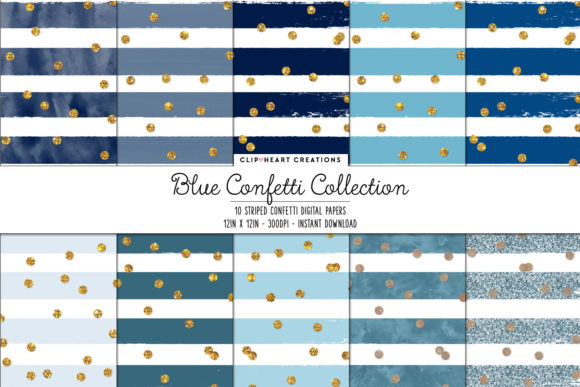 Download Free Blue Confetti Sparkle Digital Papers Graphic By for Cricut Explore, Silhouette and other cutting machines.