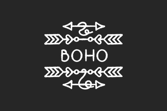Download Free Boho Arrows Chalk White Icon Graphic By Bsd Studio Creative Fabrica for Cricut Explore, Silhouette and other cutting machines.