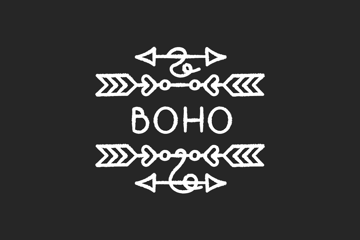 Download Free Boho Arrows Chalk White Icon Graphic By Bsd Studio Creative for Cricut Explore, Silhouette and other cutting machines.