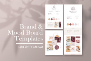 Brand and Mood Board Template Graphic Websites By CreativePanda