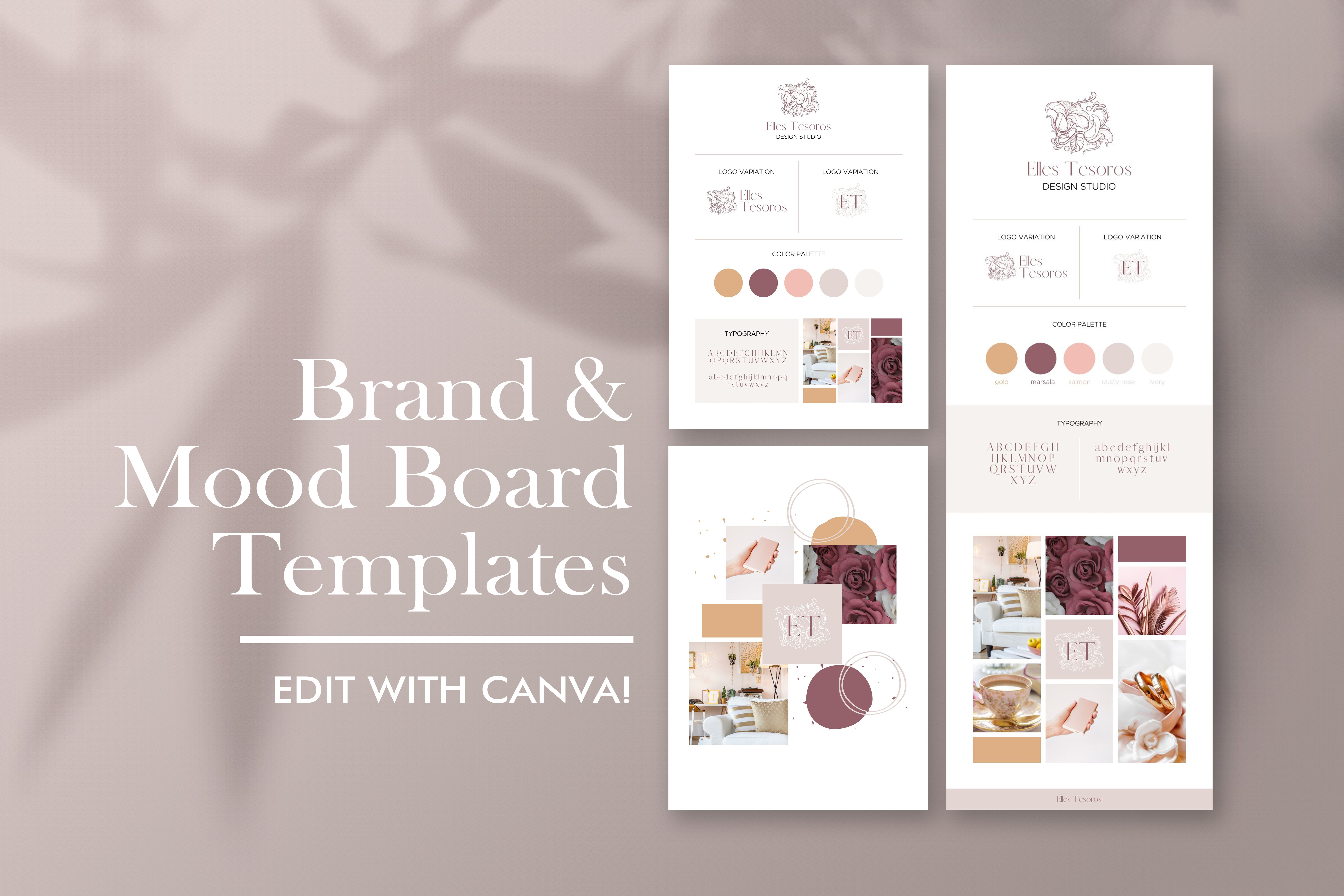 Download Free Brand And Mood Board Template Graphic By Creativepanda for Cricut Explore, Silhouette and other cutting machines.