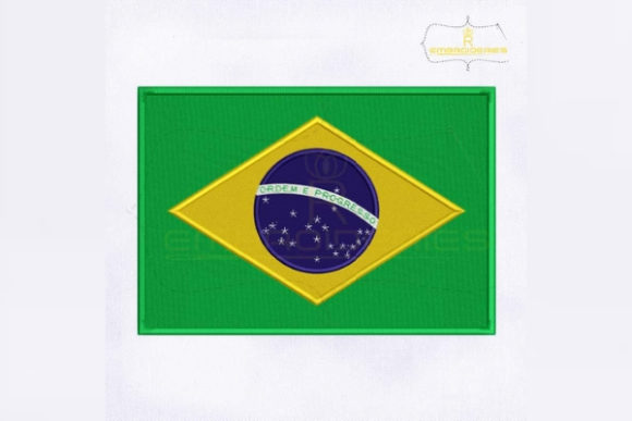 Brazil Flag South America Embroidery Design By RoyalEmbroideries