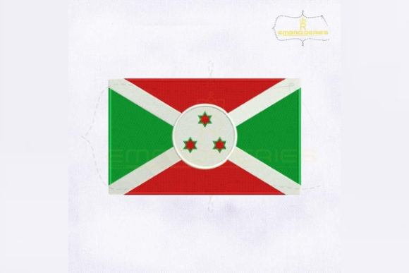 Burundi Flag Africa Embroidery Design By RoyalEmbroideries