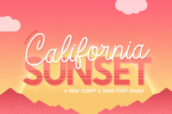 Print on Demand: California Sunset Skript & Handgeschrieben Schriftarten von Salt & Pepper Designs
