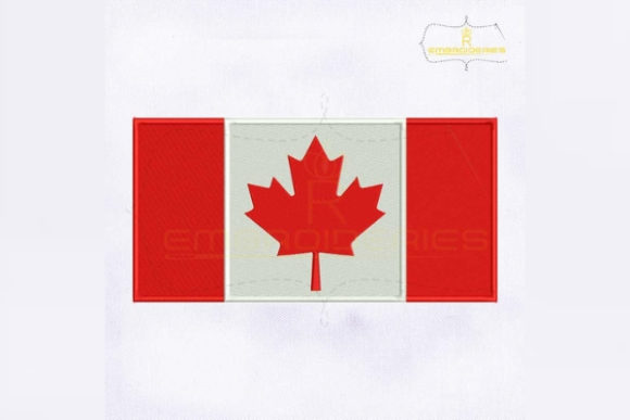 Canada Flag North America Embroidery Design By RoyalEmbroideries