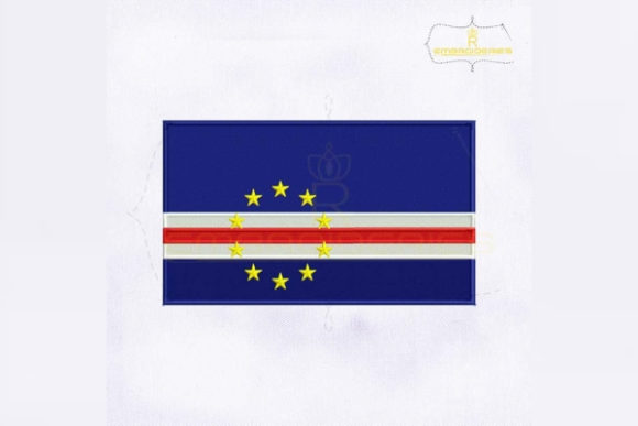 Cape Verde Flag Africa Embroidery Design By RoyalEmbroideries