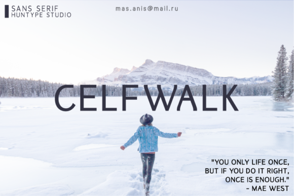Print on Demand: Celfwalk Sans Serif Font By Huntype