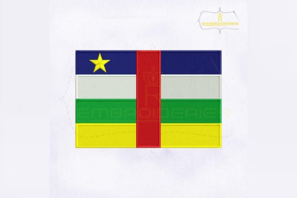 Central African Republic Flag Africa Embroidery Design By RoyalEmbroideries