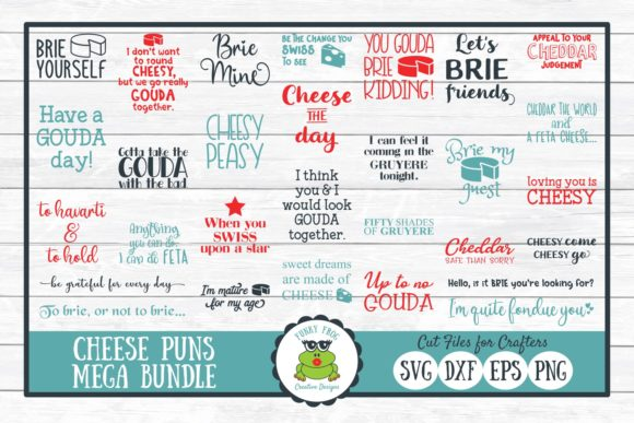 Cheese Pun Mega Bundle Graphic Crafts By funkyfrogcreativedesigns